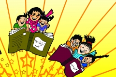Gogi cartoon for MObile Library